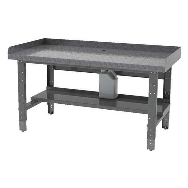 """Greene Manufacturing, Inc. Bolted Tear Down Bench,  Steel,  60"""" W,  29"""" to 37-1/2"""" Height,  1800 lb.,  Straight BA-305-TDB-GALV"""