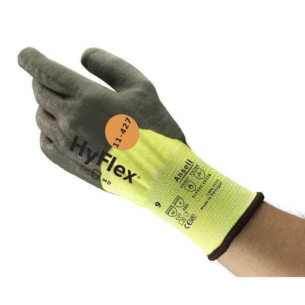Ansell Cut Resistant Coated Gloves,  A2 Cut Level,  Polyurethane,  8,  1 PR 11-427