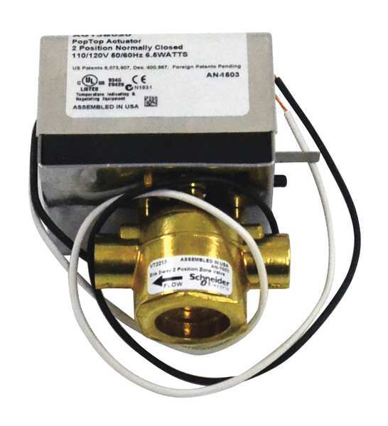 Erie Valve Body,  2 Way,  1/2 in., with Actuator VT2213G13B020