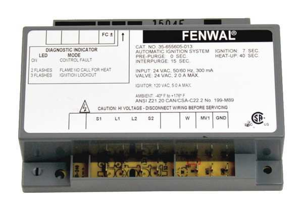 Fenwal Ignition Controls Control Board,  24V 35-655605-013