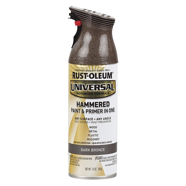Rust-Oleum Hammered Spray Paint,  Dark Bronze,  Hammered,  12 oz. 258199