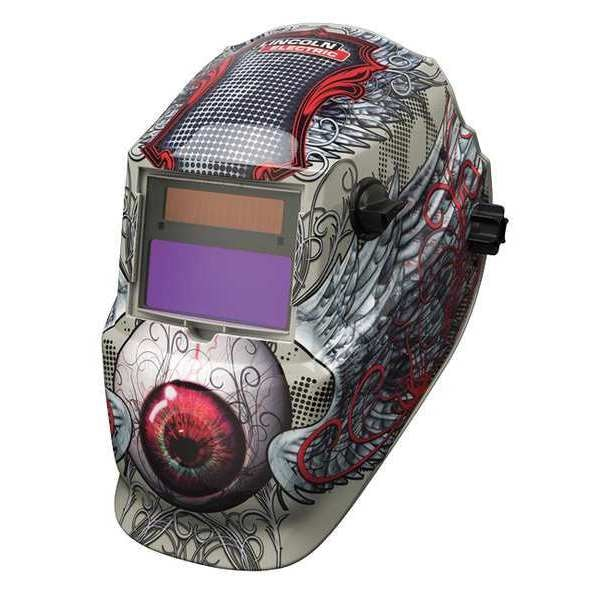 Lincoln Electric Welding Helmet,  Shade 9 to 13,  Tan/Red K3190-1