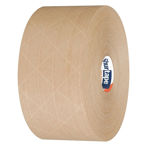 Shurtape Water-Activated Packaging Tape, Brown, PK8 WP 100