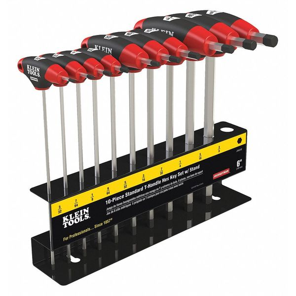 Klein Tools 10 pc Journeyman T-Handle Set with Stand JTH610E
