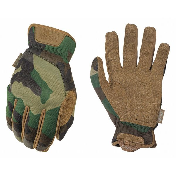 "Mechanix Wear FastFit® Woodland Camo Tactical Glove, L, 9"" L, PR FFTAB-77-010"