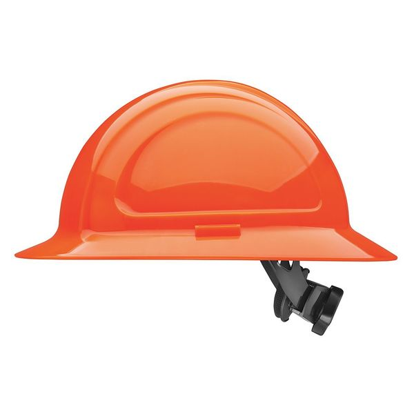 Honeywell North Full Brim Hard Hat,  Type 1,  Class E,  Ratchet (4-Point),  Hi-Vis Orange N20R460000