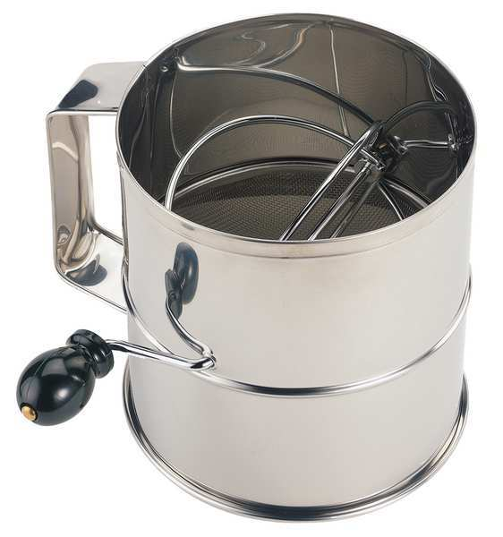 Crestware Flour Sifter, Stainless Steel, 6-1/4 In SFS08