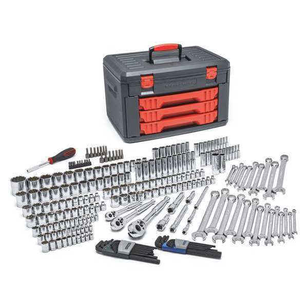 "Gearwrench 1/4"",  3/8"",  1/2"" Drive Mechanics Tool Set in 3 Drawer Storage Box 80942"