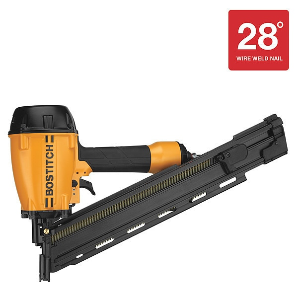 Bostitch Air Nailer, 28 deg. Collation Angle BTF83WW