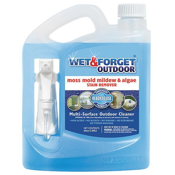 Wet And Forget Mold/Moss/Algae/Mildew Remover, Sz 64 oz. 804064