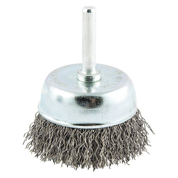 """Norton Crimped Wire Cup Brush,  Shank Mount,  Trim Length: 5/8"""" 66252838860"""