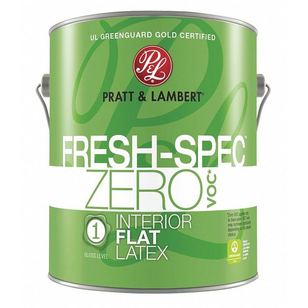 Pratt & Lambert 1 gal. Baby Breath Flat Latex Interior Paint 0000Z0280-16