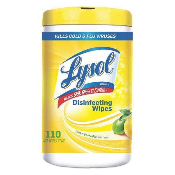 Lysol Disinfecting Wipes, Canister, 110 19200-78849