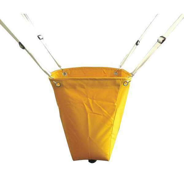 Zoro Select Roof Leak Diverter, 18x18 In., Yellow 42X297