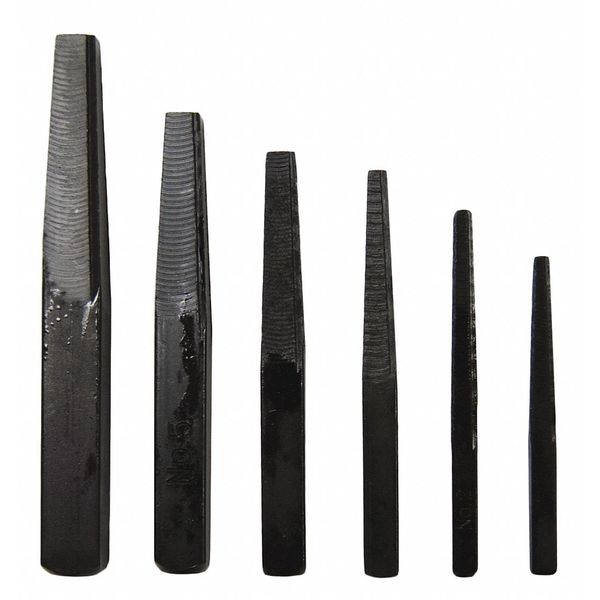 Century Drill And Tool Screw Extractor Set,  6pc,  Square Flute #1,  #2,  #3,  #4,  #5 and #6 73214