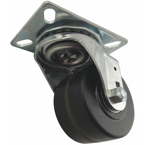 Zoro Select Plate Caster, 600 lb., Light-Medium Duty 426A88