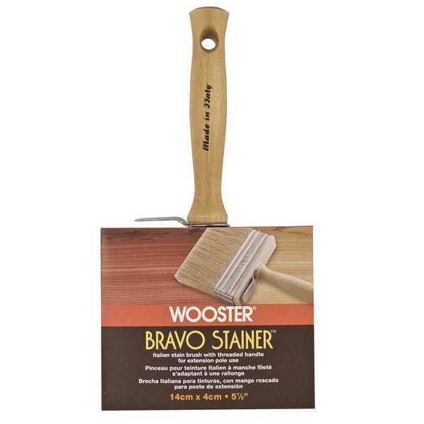 """Wooster 5-1/2"""" Block Paint Brush,  White China/Polyester Bristle F5116-5 1/2"""