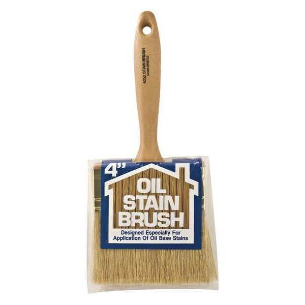 Wooster Oil Stain Brush 4in White China Bristle 4052-4