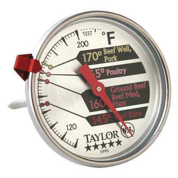 Taylor Pro Meat Thermometer, Stainless Steel 5990N