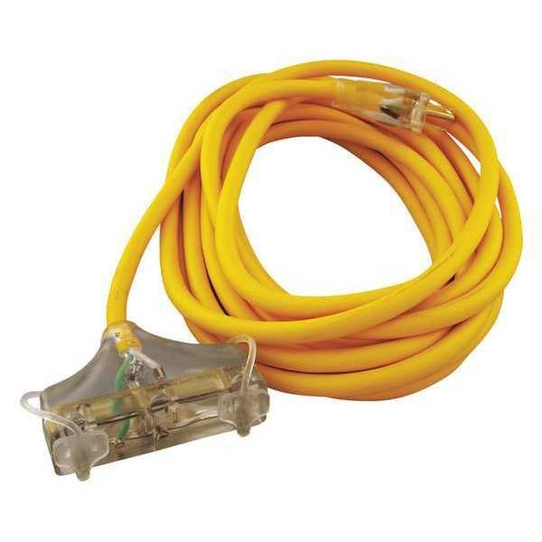 Cci 25 ft. 12/3 3-Outlet Outdoor Extension Cord SJEOW 172-03487