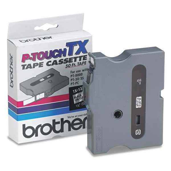 "Brother P-Touch Tape Cassette Cartridge 1/2"" Black,  for use with PT-30/35/8000/PC TX-1311"