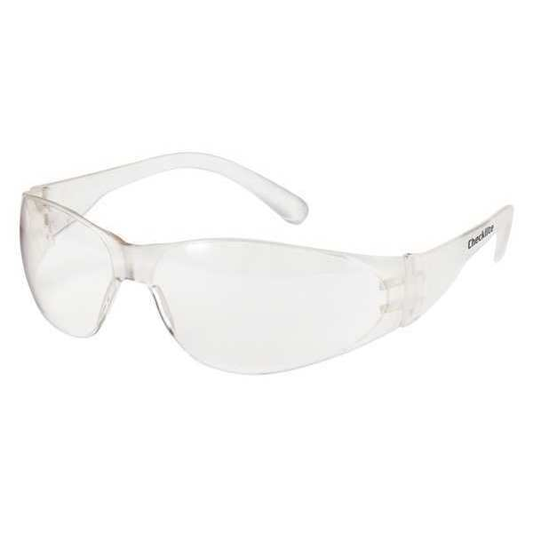 Crews Safety Glasses,   Clear Polycarbonate Lens,  Uncoated 135-CL010
