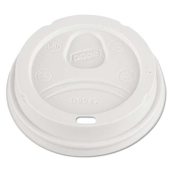 Dixie Dome Cup Lid for 12-16 oz.,  White,  Pk100 D9542 PACK