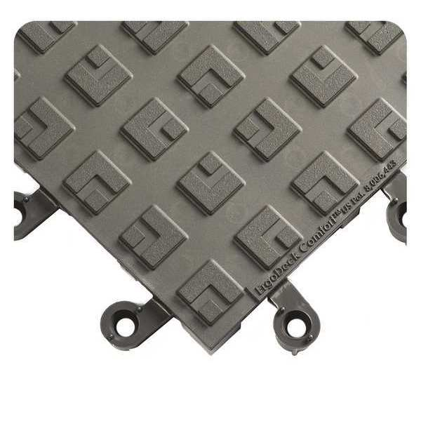 """Wearwell Charcoal ErgoDeck Comfort Solid Mat, 18in x 18in 18"""" W x 18"""" L,  7/8"""" 556.78X18X18CH"""