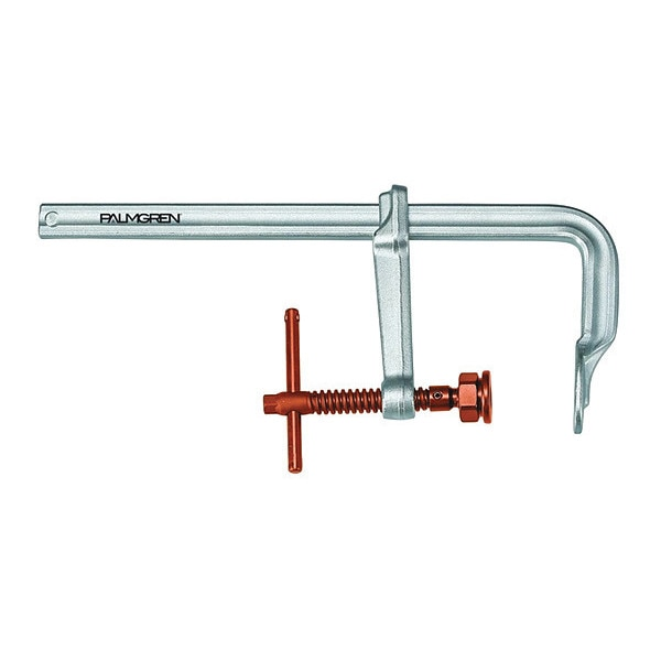 """Palmgren 10"""" HD L-Clamp, 0-10"""", Copper Spindle Copper Handle and 9629410"""