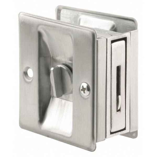 "Primeline Pocket Door Lock/Pull, 3-3/4"" L N 7161"