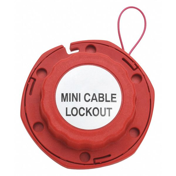 Condor Cable Lockout, Red, Cable 8 ft. L 437R27