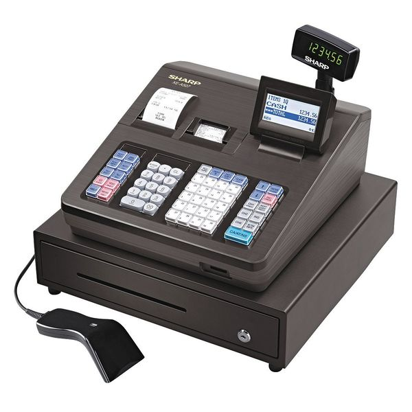 Sharp Register, 8Line, Disply, Black XEA507