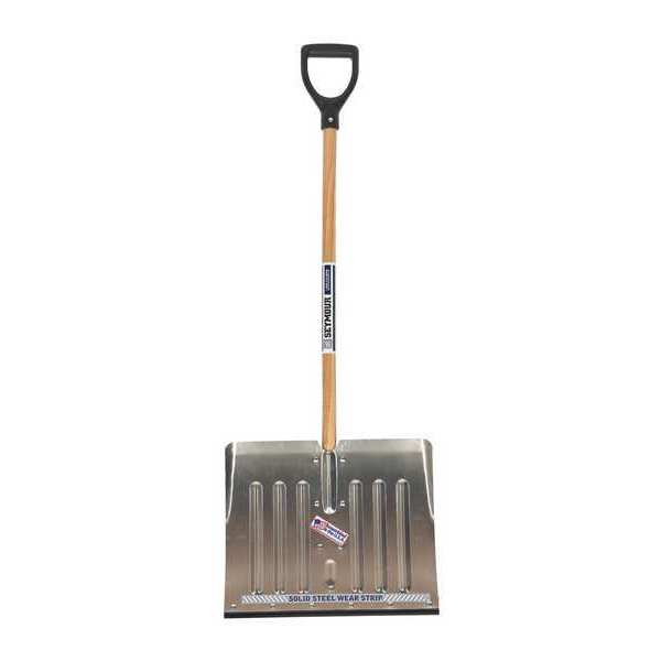 Alum Snow Shovel 18 41 Wood Handle