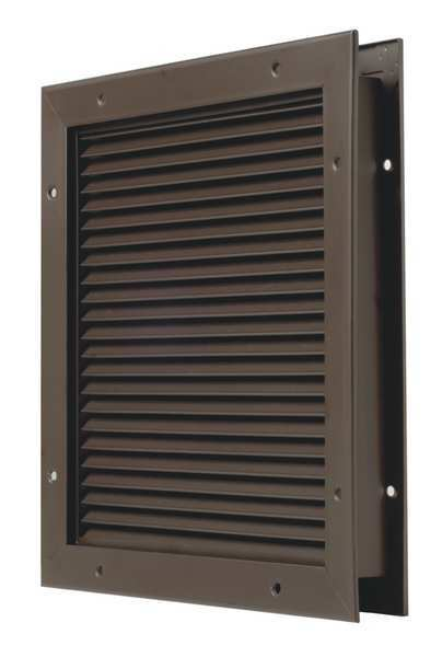 National Guard Door Partition Louver, Steel L-700-BFDKB-20x12