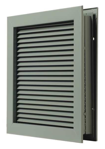 National Guard Door Louver, Steel L-700-RX-20x12