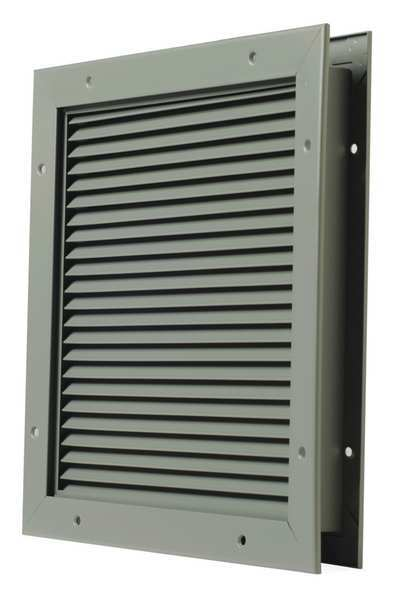 National Guard Partition Louver, Steel L-700-BF-18x24