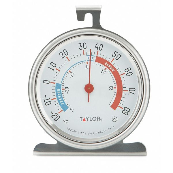 """Taylor Refrigerator/Freezer Thermometer, 3"""" Dial 5924"""