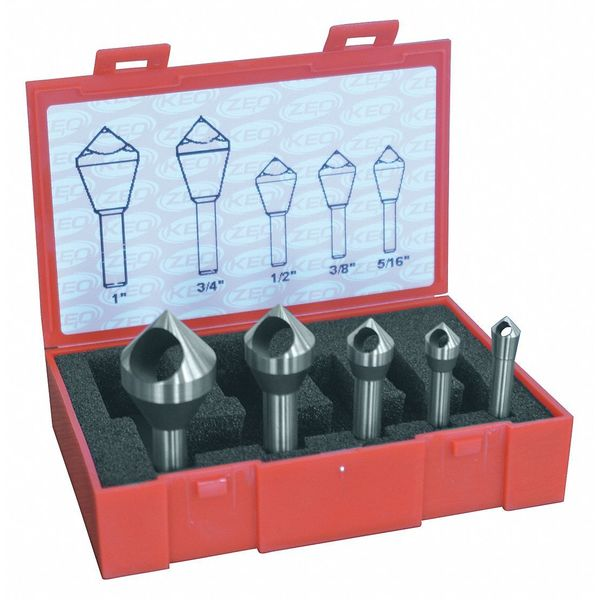 Cleveland Countersink/Deburring Tool Set, 5 Pieces C94593