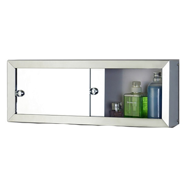 """Ketcham 30"""" x 8"""" Surface Mounted Stainless Steel Framed Cosmetic Box 3008M"""