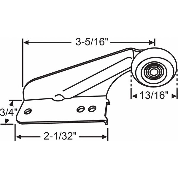 Zoro Select Drawer Track Roller, Conventional Closure 45-17