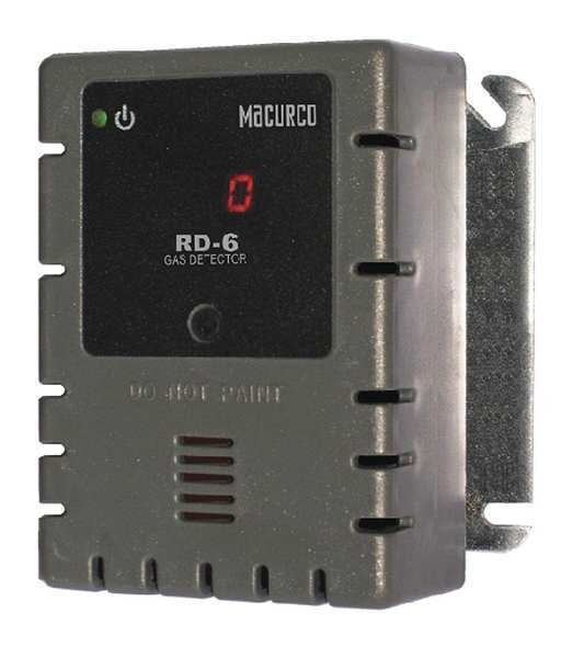 Macurco Fixed Gas Detector, Ref, 0 to 1000 ppm RD-6