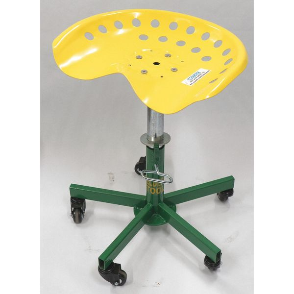 "Sumner Round Stool,  Height Range 15"" to 20"",  Steel Green,  Yellow 785800"