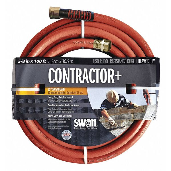 Swan Csncg58100 50 14 Water Hose Cold Water Red Pvc 100 Ft