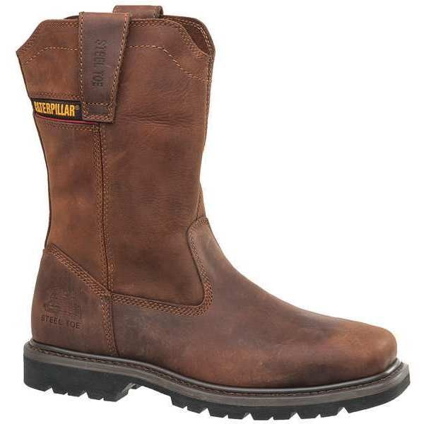 Cat Footwear Size 11 Men's Wellington Boot Steel Work Boot,  Dark Brown P90439