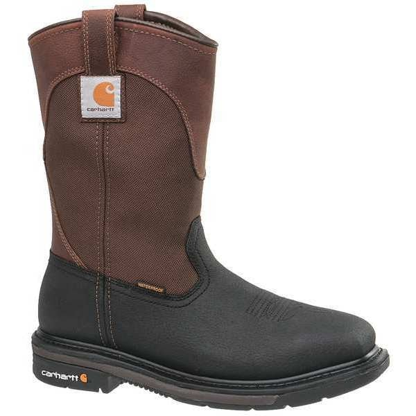 Carhartt Size 9 Men's Western Boot Steel Work Boot,  Brown/Black CMP1258