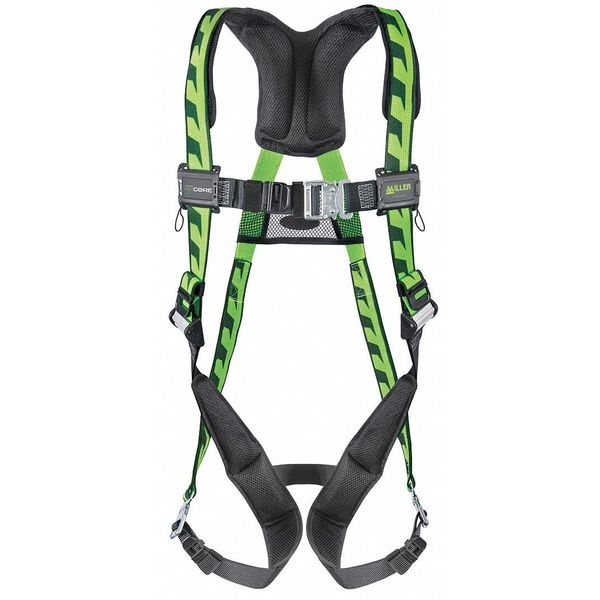 Honeywell Miller Full Body Harness,  Vest Style,  L/XL,  Polyester,  Green AC-QC/UGN