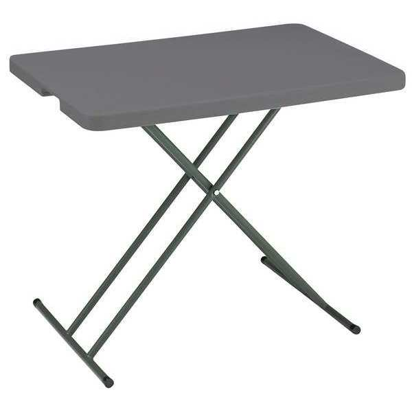 "Iceberg Rectangle Folding Table ,  30"" W 30"" L 25"" or 28"" H,  Charcoal Tabletop 65491"