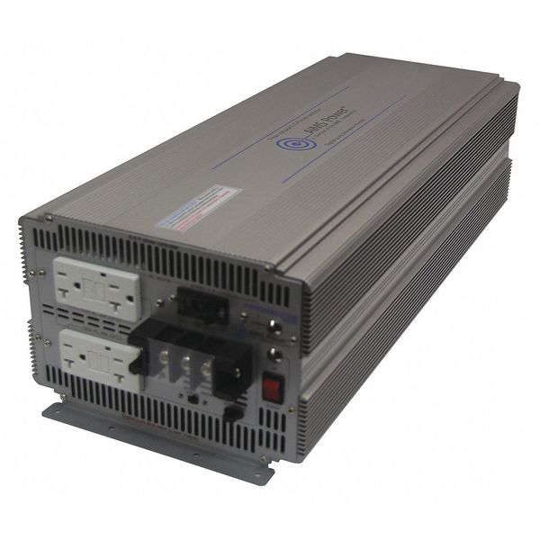 Aims Power Inverter, 10 to 16VDC, Hardwired GFCI, Post PWRIG500012120S