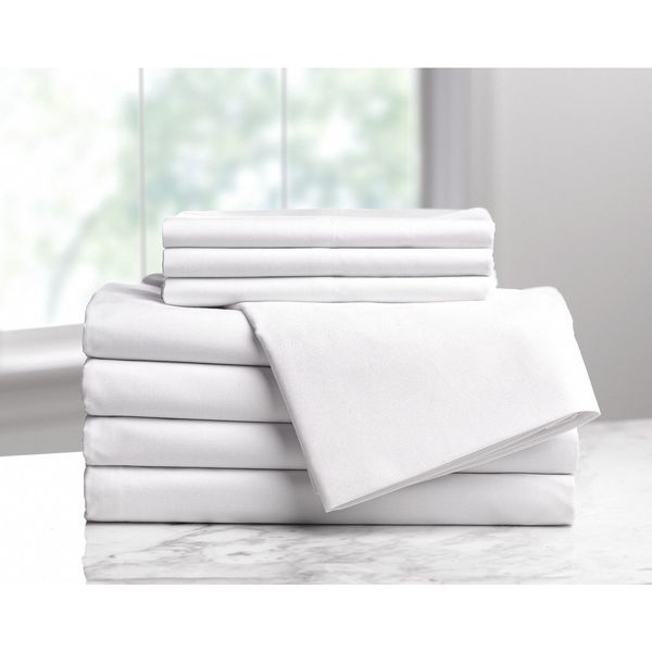 Dryfast Fitted Sheet, XL Twin Size, 80 in. L, PK6 1A29714