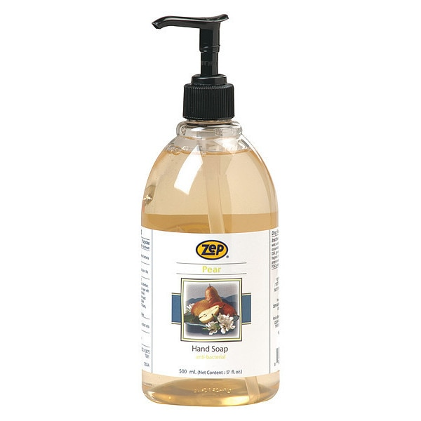 Zep Hand Soap,  Liquid,  500mL,  Pump Bottle,  PK12,  Fragrance: Pear 333901